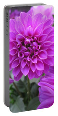 Dahlia In Pink Portable Battery Charger