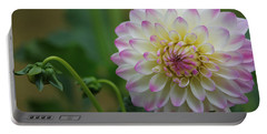 Dahlia In The Mist Portable Battery Charger