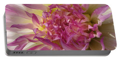 Portable Battery Charger featuring the photograph Dahlia Named Angela Dodi by J McCombie