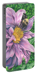 Dahlia Portable Battery Charger by Troy Levesque