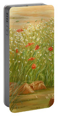 Daisies And Poppies Portable Battery Charger