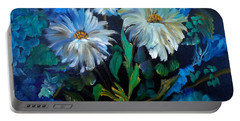 Daisies At Midnight Portable Battery Charger