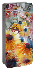 Daisies Portable Battery Charger by Jani Freimann