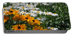 Portable Battery Charger featuring the photograph Daisy Fields by Bianca Nadeau