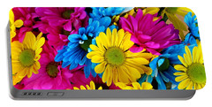 Portable Battery Charger featuring the photograph Daisys Flowers Bloom Colorful Petals Nature by Paul Fearn