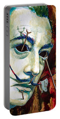 Portable Battery Charger featuring the painting Dali 2 by Laur Iduc