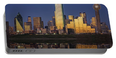 Dallas At Dusk Portable Battery Charger by Rick Berk