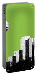 Dallas Skyline Reunion Tower - Olive Portable Battery Charger