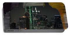 Dallas Texas Skyline In A Purse Portable Battery Charger