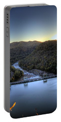 Portable Battery Charger featuring the photograph Dam Across The River by Jonny D