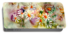Dance Of The Daisies Portable Battery Charger by Neela Pushparaj