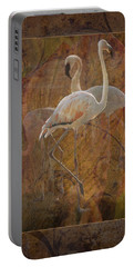 Dance Of The Flamingos Portable Battery Charger by Melinda Hughes-Berland