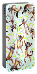 Dance Of The Monkeys Portable Battery Charger by Fabrizio Cassetta