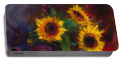 Dance With Me - Sunflower Still Life Portable Battery Charger