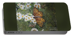 Dance With The Daisies Portable Battery Charger by Kimberlee Baxter
