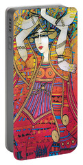 Dancer With Doves Portable Battery Charger