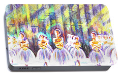 Dancers In The Forest Portable Battery Charger by Kip DeVore