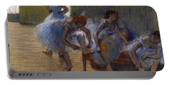 Dancers On A Bench, 1898 Portable Battery Charger