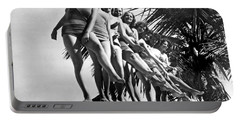 Dancers Practice On Palm Tree Portable Battery Charger