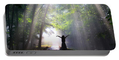 Dancing In God's Light Copyright Willadawn Photography Portable Battery Charger by Melissa Petrey