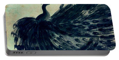 Dancing Peacock Mint Portable Battery Charger by Anita Lewis