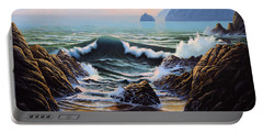 Dancing Tide Portable Battery Charger by Frank Wilson