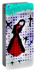 Portable Battery Charger featuring the photograph Dancing With The Birds by Jessica Shelton