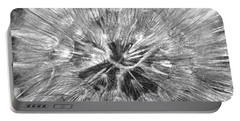 Portable Battery Charger featuring the photograph Dandelion Fireworks In Black And White by Rona Black