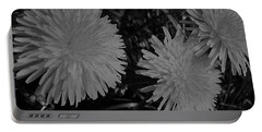 Dandelion Weeds? B/w Portable Battery Charger by Martin Howard