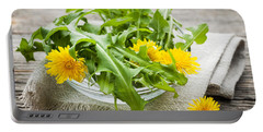 Dandelions Greens And Flowers Portable Battery Charger