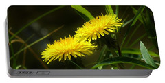 Portable Battery Charger featuring the photograph Dandelions by Sherman Perry
