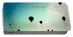 Daring Adventure Hot Air Balloons Portable Battery Charger by Eleanor Abramson