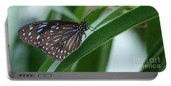 Dark Blue Tiger Butterfly #2 Portable Battery Charger