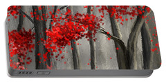 Dark Passion- Red And Gray Art Portable Battery Charger