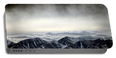 Portable Battery Charger featuring the photograph Dark Storm Cloud Mist  by Barbara Chichester