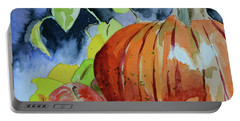 Portable Battery Charger featuring the painting Darkening by Beverley Harper Tinsley