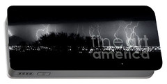 Portable Battery Charger featuring the photograph Darkness Symphony-15x72-signed by J L Woody Wooden