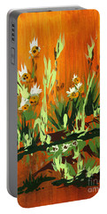 Portable Battery Charger featuring the painting Darlinettas by Holly Carmichael