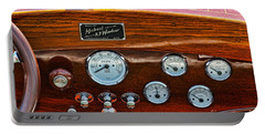 Dashboard In A Classic Wooden Boat Portable Battery Charger