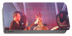 Portable Battery Charger featuring the photograph Dave And Tim Jam On The Guitar by Aaron Martens