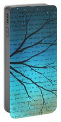 Dave Matthews Band Crush Lyric Art - Blue Portable Battery Charger