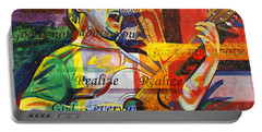 Dave Matthews-bartender Portable Battery Charger by Joshua Morton