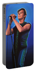 David Bowie 2 Painting Portable Battery Charger