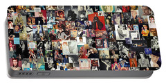 David Bowie Collage Portable Battery Charger