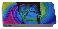 David Bowie Color Swirl Portable Battery Charger