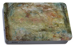 Portable Battery Charger featuring the painting Dawn 2 by Mary Wolf