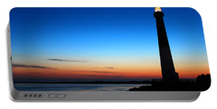 Dawn At Barnegat Light Portable Battery Charger by James Kirkikis