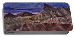 Portable Battery Charger featuring the photograph Dawn At Zabriskie Point by Jerry Fornarotto
