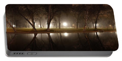 Dawn Mist Rising At Sycamore Pool  Portable Battery Charger