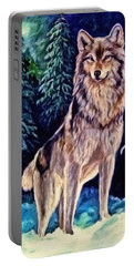 Portable Battery Charger featuring the painting Dawn Of A New Day Original Painting Forsale by  Nadine Johnston